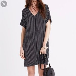 Madewell Short Sleeve Striped Shift Dress Small